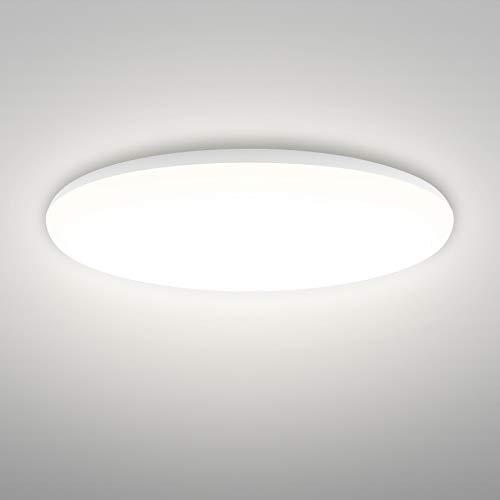 Linkind 24W Helle Deckenleuchte, 2400lm Neutralweiß Deckenlampe, 240 W Glühlampe ersetzt, IP44 Wasserdicht, Ø32cm 4000K LED Lampen, ideal für Wohnzimmer Badezimmer Balkon Flur Küche Badezimmer