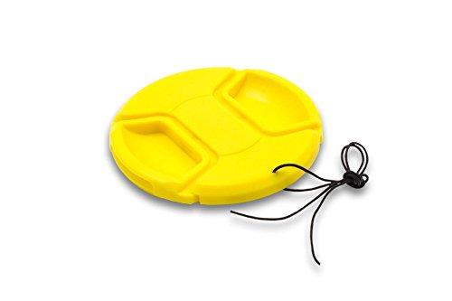 vhbw Tapa de Objetivo Amarilla plástico 62mm para Lentes de cámaras Sony 70-300 mm 4.5-5.6 G SSM