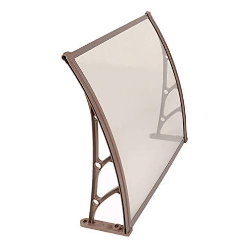 Auvent De Porte Opy Couverture Extérieure,Porte Fenêtre Jardin Canopy Patio,Abri De Pluie Auvent De Porche,Y Compris Le Support En Plastique En Acier, PC Solid Board, Des Vis ( Size : 100*150cm )