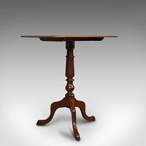 Antiker Weintisch aus englischem Mahagoni, Beistelltisch, Lampenstativ, viktorianisch, Circa 1870