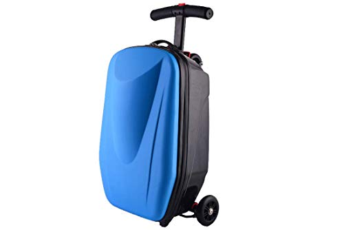 TRYSHA Scooter Bagage Trolley Case Skateboard Koffer 21 In (Color : Blue)