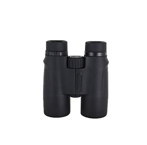 ZHAOJWYJ verrekijker met grote vergroting HD 10 x 42 met lensdop voor vogels observering buitenshuis, reizen, avontuur, weergave 10 x (zwart)