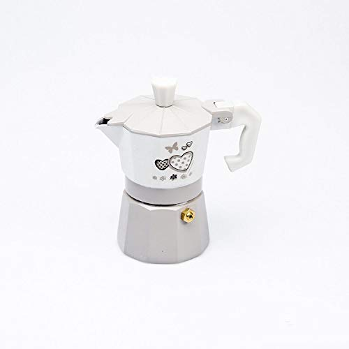 Kasahome Caffettiera Moka da Cucina Macchina per Il caffè Espresso 3 Tazze Shabby Chic in Alluminio Casa