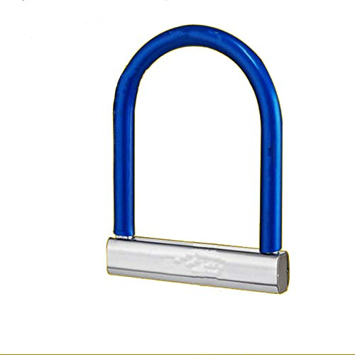 Bicycle Lock U-shaped Safety Lock for Electric Scooter Bike Universal for Bicycle Mountain Bike Scooter (Size: One Size; Colour: Blue)
