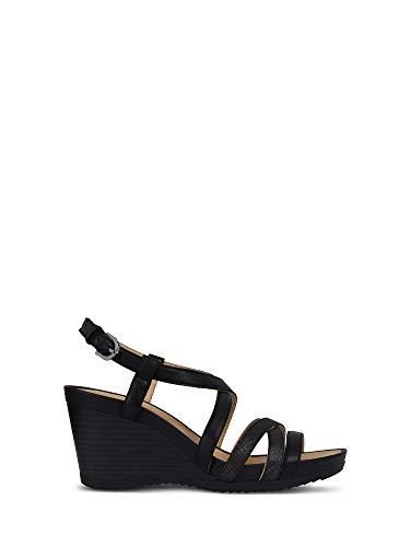 Zapatos de Mujer Sandalias GEOX D New Rorie B en Cuero Blanco D92P3B-05404-C1R1Q