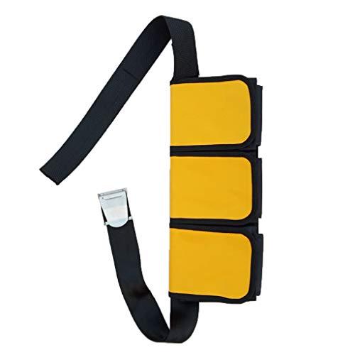 perfeclan Tauchgürtel mit Gewichten Taschen Bleigurt Bleigürtel zum Tauchen Schnorcheln - 5 Tasche