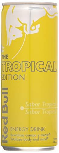 Red Bull Tropical Bebida Energética – Paquete de 12 x 250 ml – Total: 3000 ml