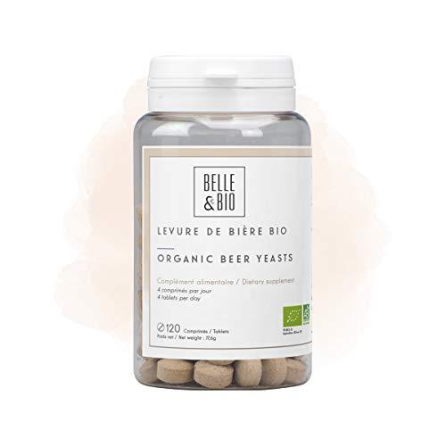 Belle&Bio Levure de Bière Bio - 400 mg/comprimé - Cheveux - Certifié Bio par Ecocert - Fabriqué en France