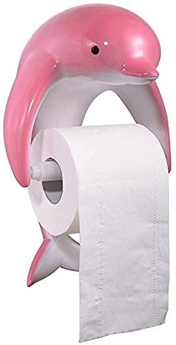 Sysrqcer Tabela de Inodoro Caja de Tejido Creativo Impermeable Rollo de Papel Rack (Color : Pink)