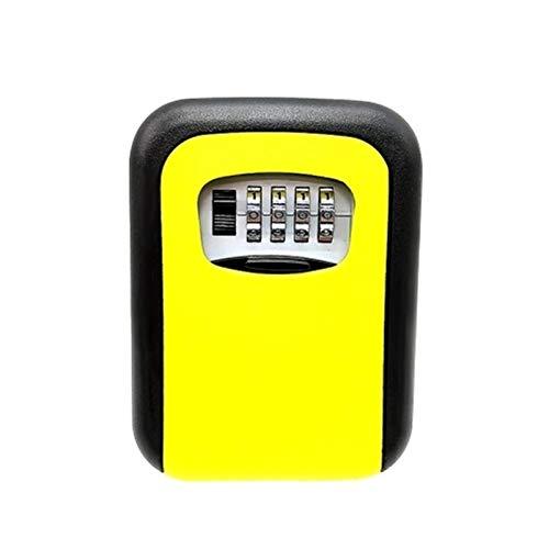 WanuigH Caja Fuerte para Llaves Montable en Pared Diseñado Combinación 4 dígitos de Bloqueo de Teclas Caja de Almacenamiento de Bloqueo Más Confiable (Color : Yellow, Size : One Size)