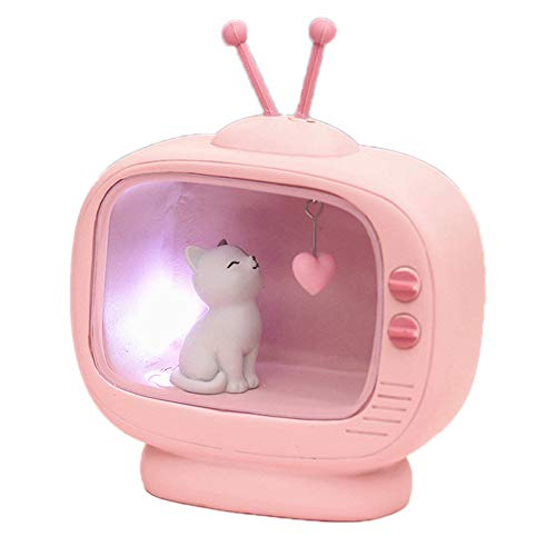 Preisvergleich Produktbild WYLT Kawaii Rosa Nachttischlampe für Kinder Nette Katze Nachtlicht Ausgangs Dekor Kind Mädchen Geschenke Christmas Festival, B