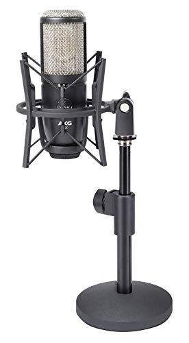 AKG P420 Studio Condenser Recording Podcasting Microphone+Shockmount+Desk Stand