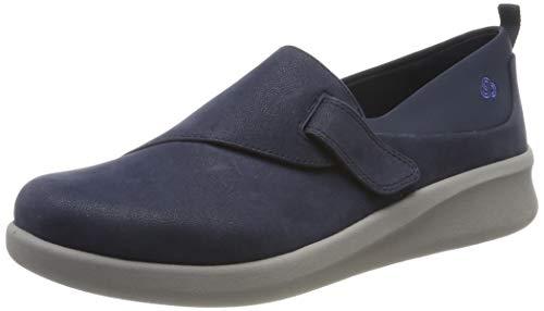 Clarks Damen Sillian2.0Ease Slipper, Blau (Navy Synthetic), 39.5 EU