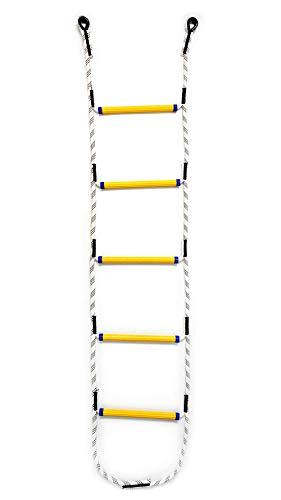 Aoneky Escalera de Cuerda para Niños Adultos con Peldaños Escala de Cuerda para Escalar Trepar - de Nylon Juguete Infantil de Entretenimiento para Jardín Patio Parque Árbol Exterior (2.1 m)