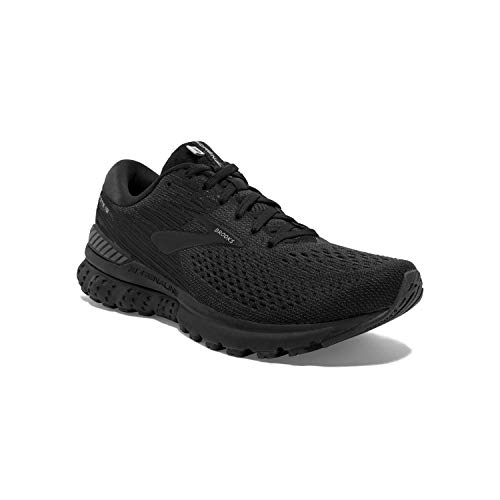 Brooks Mens Adrenaline GTS 19 Running Shoe - Black/Ebony - D - 10.0