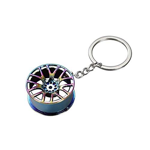 Auto Radnabe Schlüsselanhänger,MoreChioce Multifunktional Zinklegierung Felge Schlüsselhalter Anhänger Auto Schlüsselring Dekoration Schlüssel Organizer,Bunt