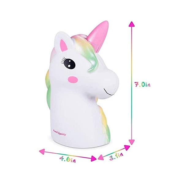 YXJC Fun Toys Squishies, Starry Unicorn Squishy, Creamy Aroma Slow Rising Squeeze Toys for Boys and Girls Gifts (Color : Colorful) 8