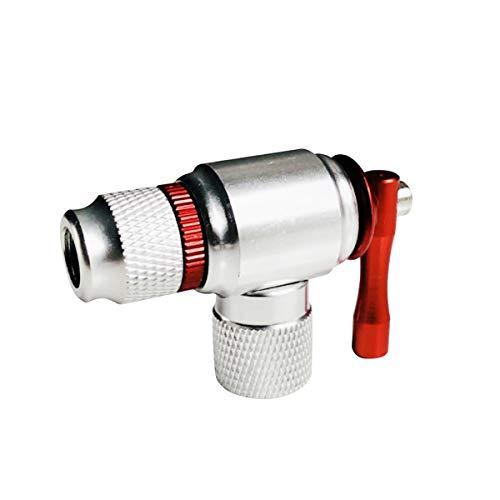 CO2 Inflator Bike Tool Quick Easy Fahrrad Reifenpumpe für Rennrad und Mountainbike Presta und Schrader Ventil kompatibel
