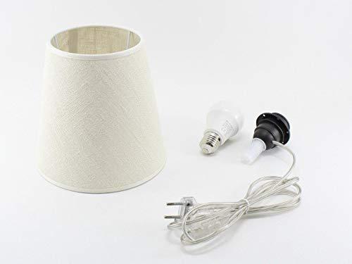 Kit Completo Paralume Juta + Adattatore portalampada E27 con filo e interruttore trasparente - Lampada Led A+ in omaggio! Trasforma una bottiglia in lampada! Lampabottiglia.it