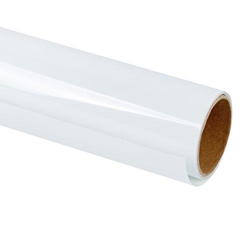 RUSPEPA 30,48 cm Wärmeübertragung Vinyl für DIY T-Shirts, Handwerk Kleidungsstück Transferpresse - 92cm Rolle (weiß)