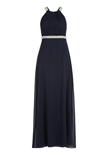 Vera Mont VM Damen 0084/4825 Partykleid, Blau (Night Sky 8541), (Herstellergröße: 32)