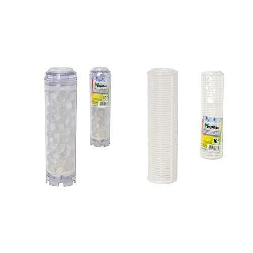 Papillon 4012040 - Filtro Cartucho Polifosfato 10' + 4012010 Maurer Cartucho Filtro Agua Malla Lavable 10'