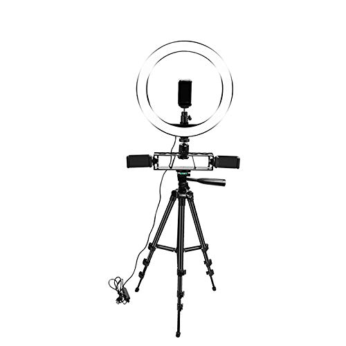 Phone Tripod With Light 136Cm Led Ring Light 122Cm Ringlight With Standing 3Colors Ring Light 10 Inch Tall Lamp For Youtube Live,2A