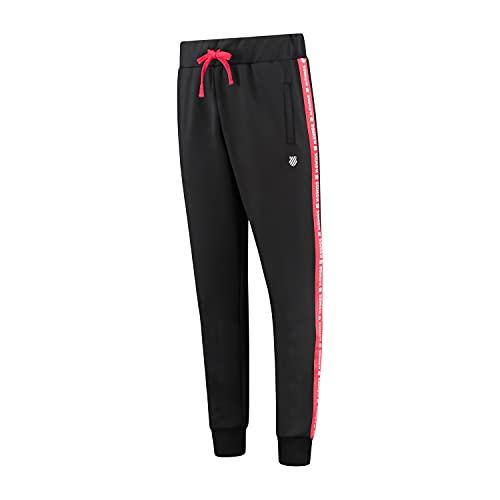 K-Swiss Sport Heritage Pantalones de chándal, Negro, Small Unisex Adulto