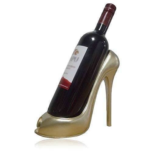 LIANYG Innovadora de tacón Alto Estante del Vino de Resina Botella de Vino del Soporte de exhibición de la Sala Principal del Hotel Tabla Ornamento de la Boda Decoración botellero Vino 552