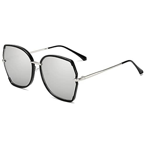Sunglasses Modische Sonnenbrille Quadratische Sonnenbrille Frauen Trendy Irregular Frame Brille Uv400 Vintage Mirror Gra