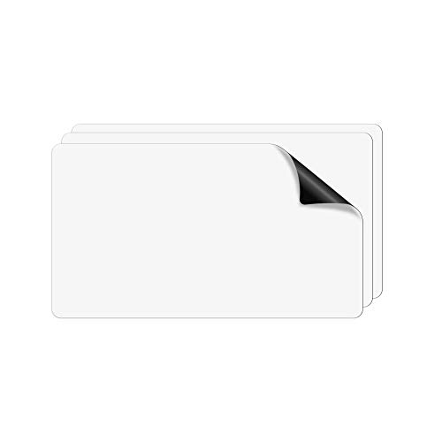 Flexible Vinyl Blank Magnetic Sign Sheets with Round Corners 12' x 24' 30 Mil 2 Pack