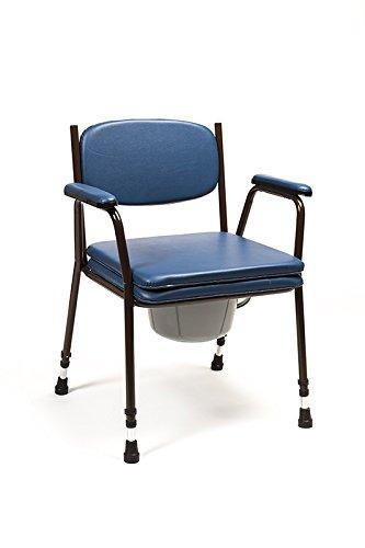Silla WC con inodoro - modelo Anota Confort 053 sin ruedas y regulable en altura 🔥