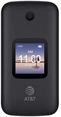 H2O Wireless Alcatel SMARTFLIP 4052R 4G Prepaid Flip Phone (Locked) - Black - 4GB - Sim Card Included - GSM