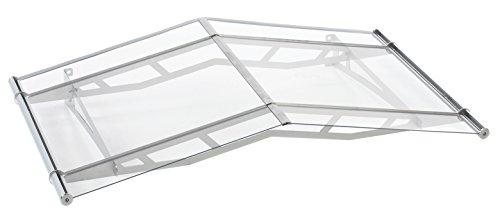 Schulte Vordach Überdachung Haustürvordach 148x91cm Acrylglas satiniert Edelstahl matt Giebelvordach