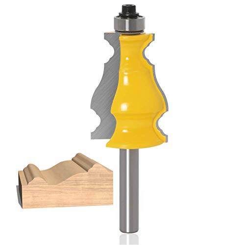 WSOOX 8mm Gambo Fresa, Molding Fresa Per la fresatura di anta armadio /Pannello della porta /bracciolo
