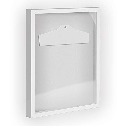 Objektrahmen Trikotrahmen VARIO inkl. Bügel und Passepartout 40x60cm Weiß (lackiert)