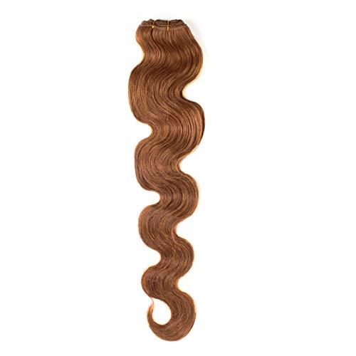 Hair2Heart 100g Echthaar-Tresse - gewellt - 70 cm - #8 hellbraun