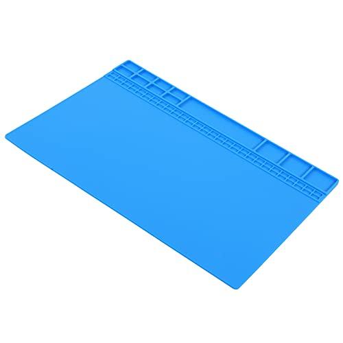 SALUTUY Alfombrilla antiestática, Alfombrilla para Banco de Trabajo Resistencia a Altas temperaturas para teléfono móvil(Dark Blue)