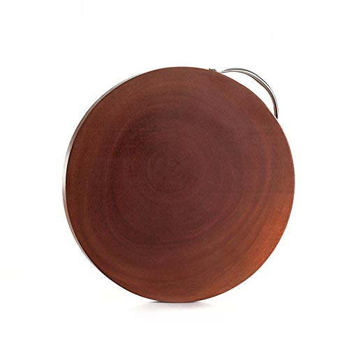 Ykun Mogano, Tagliere in Legno massello, Tagliere, Tagliere, Legno Intero Senza giunzioni, Tondo 29 * 2,8 cm-29 * 2,8 Centimetri
