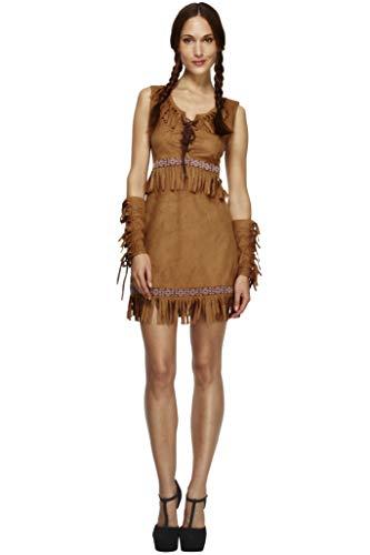 Fever Damen Pocahontas Kostüm, Kleid und Armmanschetten, Größe: S, 32042
