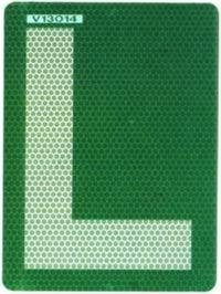 Placa L V 13 Pegatina para cristales tintados