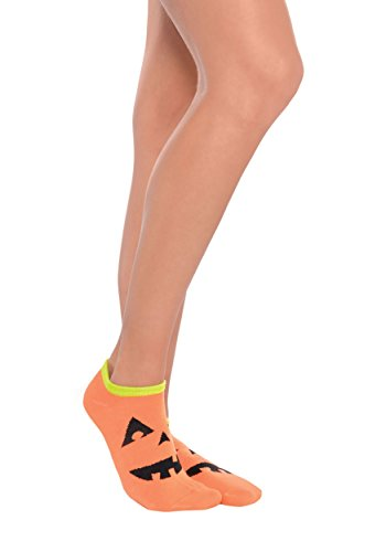 Jack-O-Lantern Halloween Ankle Fabric Socks, 1 Pair - Amscan 394234