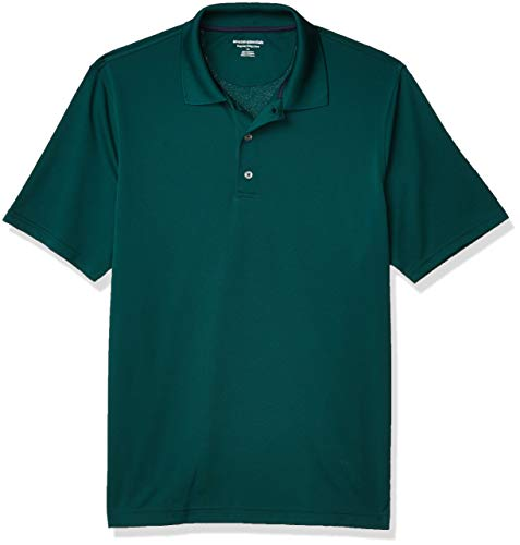 Amazon Essentials Men's Regular-Fit Quick-Dry Golf Polo Shirt, Forest Green, X-Large