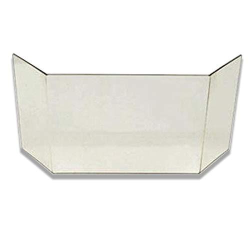 Glasscheibe komplett passend für Kaminofen Topas Elba Esagon von Eurotherm Kaminglasscheibe Ersatzglas hitzebeständig