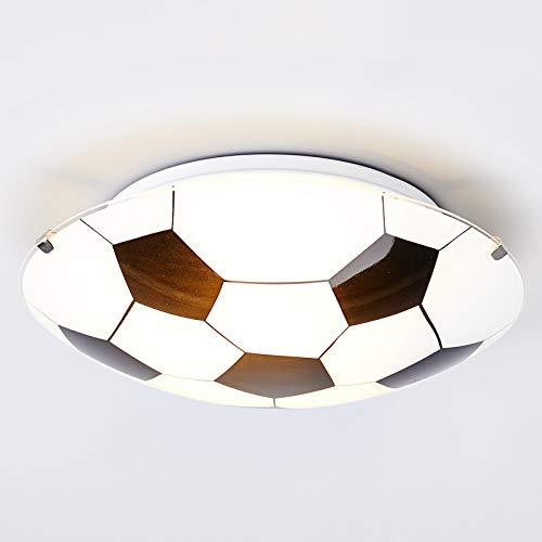 Lindby Fußball Deckenleuchte 'Fußball' dimmbar (Modern) in Weiß aus Glas u.a. für Kinderzimmer (1 flammig, E27, A++) - Fußballdesign, Kinderlampe, Fußballlampe Kinder Deckenleuchte, Lampe