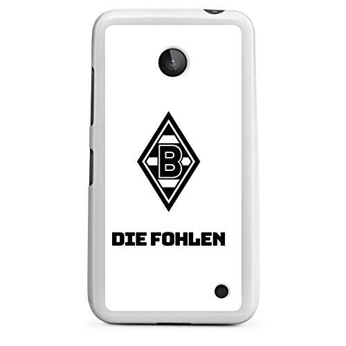 DeinDesign Silikon Hülle kompatibel mit Nokia Lumia 630 Hülle weiß Handyhülle Die Fohlen Borussia Mönchengladbach Gladbach