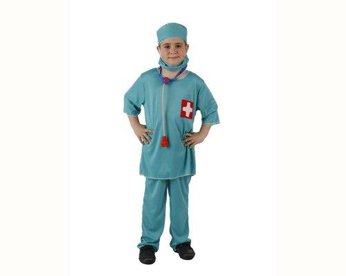 Atosa-95770 Médico Disfraz Doctor, color celeste, 3 a 4 años (95770)