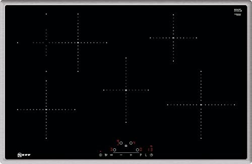 Neff T48BD00N0 Induktionskochfeld N70 / 80 cm / TouchControl / Edelstahlrahmen
