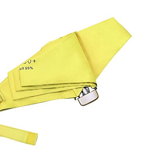 Mabor - Ombrello antivento da viaggio con protezione UV, compatto, pieghevole, per viaggi, pioggia, sole, mini ombrello, leggero, pieghevole, per donne e ragazze