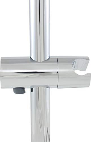 SANTRAS® Universal Gleiter als Handbrause Halterung für Brausestage (ø 25 mm) in Chrom – Verchromte Duschhalterung für Duschkopf im Badezimmer 360° drehbar aus Kunststoff